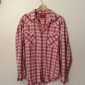 Lucky Brand Western Style Button Up